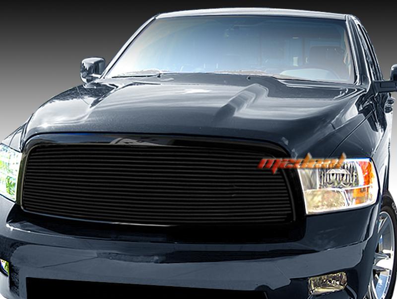 dodge ram 1500 1pc cover all upper replacement black billet grille grill 09 12. Black Bedroom Furniture Sets. Home Design Ideas