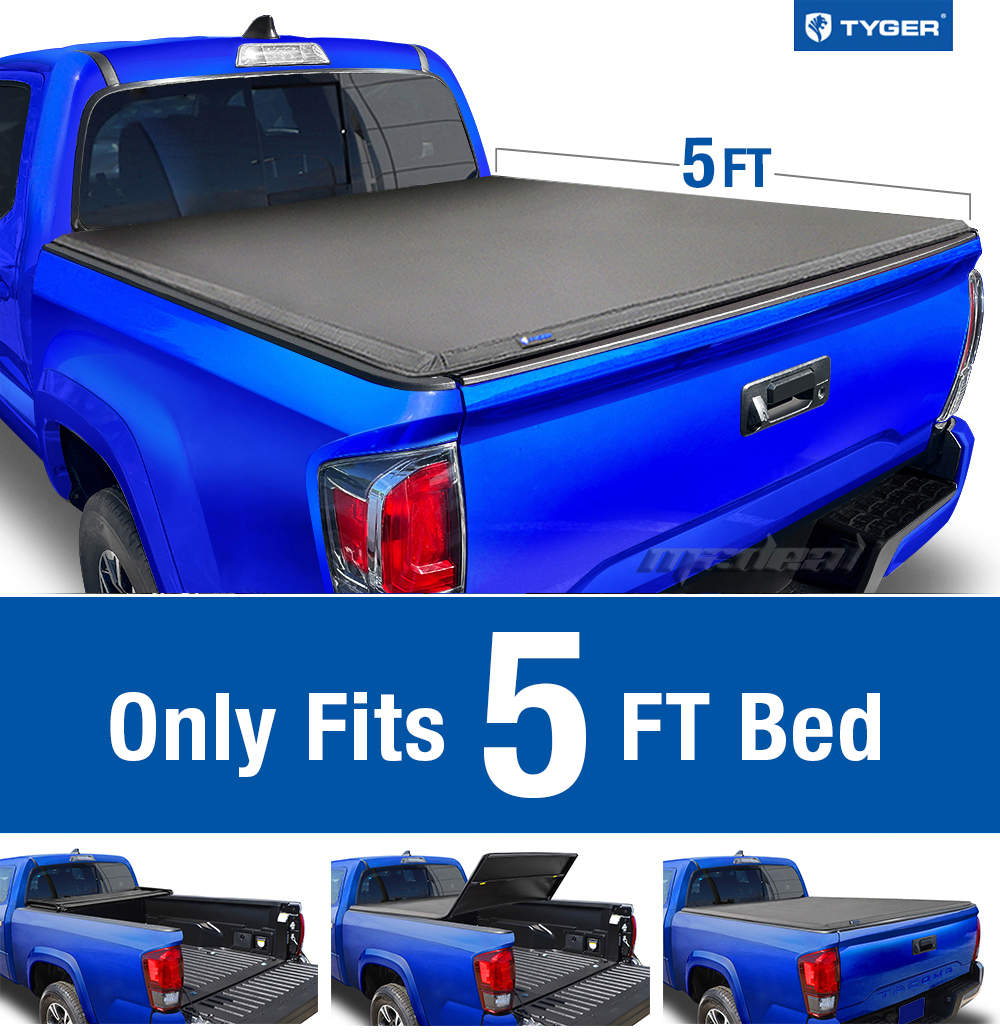 tyger tri-fold for 2005-2015 toyota tacoma 5ft/60in short bed