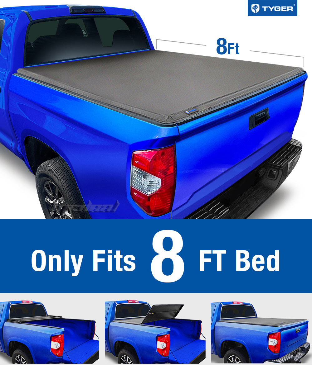 Tyger Tri Fold For 2014 2017 Toyota Tundra 8ft 96in Bed