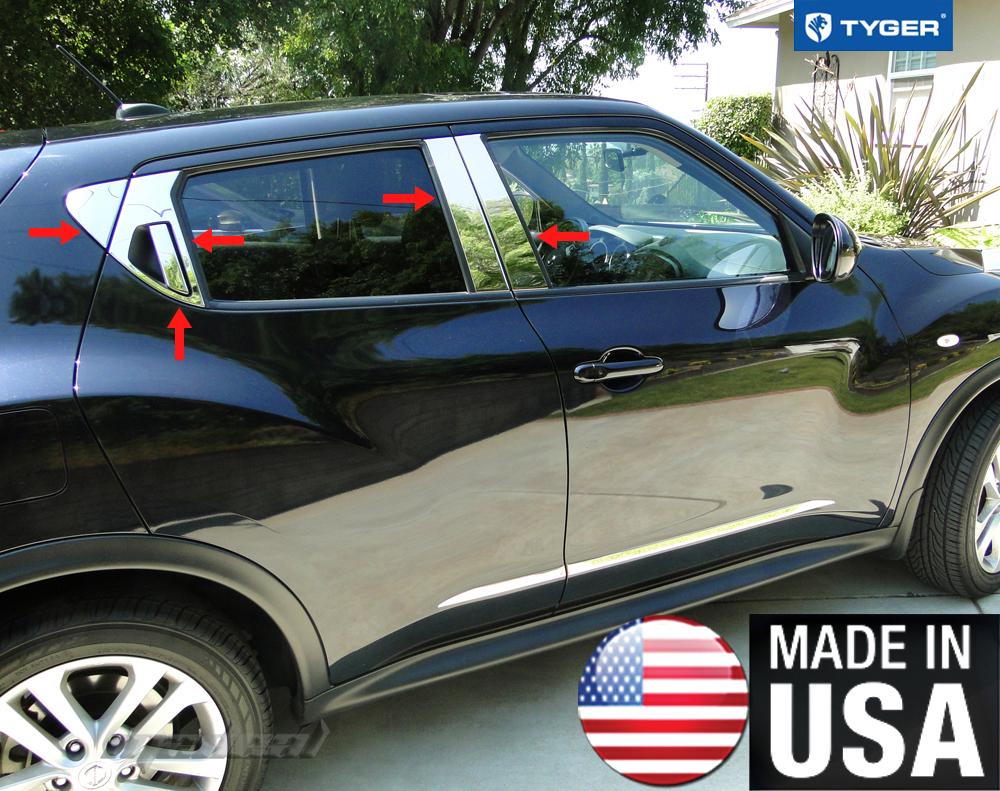 Tyger For 2011 2015 Nissan Juke 10pc Stainless Steel Chrome Pillar Post Trim Ebay
