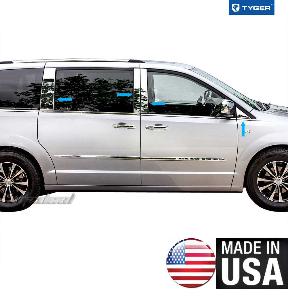 TYGER For 2008-2015 Chrysler Town & Country 8PC Stainless