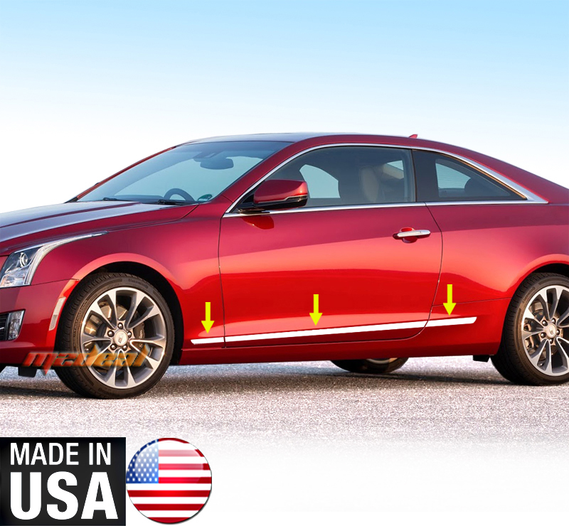 TYGER For Cadillac Body Side Molding 13-2015 ATS Coupe