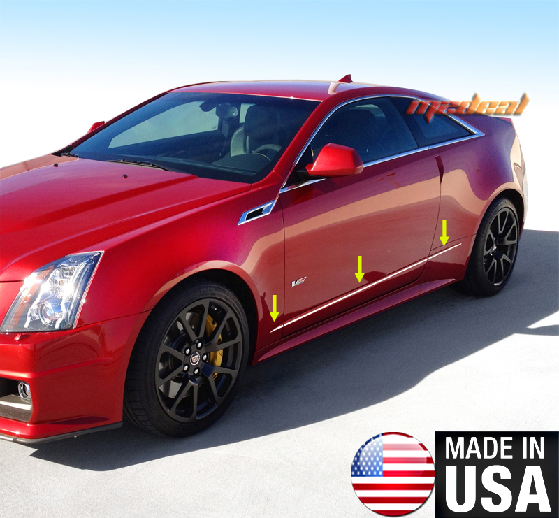 TYGER For 2011-2015 Cadillac CTS Coupe Body Side Molding