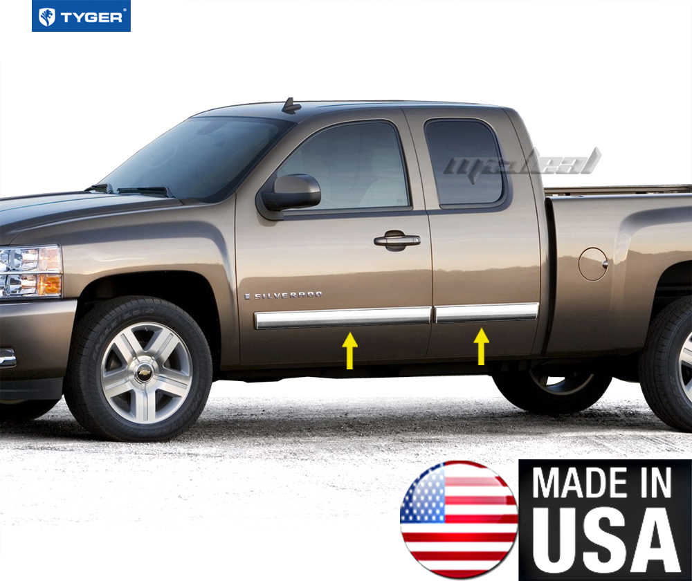 Gmc Canyon Extended Cab Chrome Body Side Molding 2015: TYGER For 09-13 Silverado Extended Cab Body Side Molding