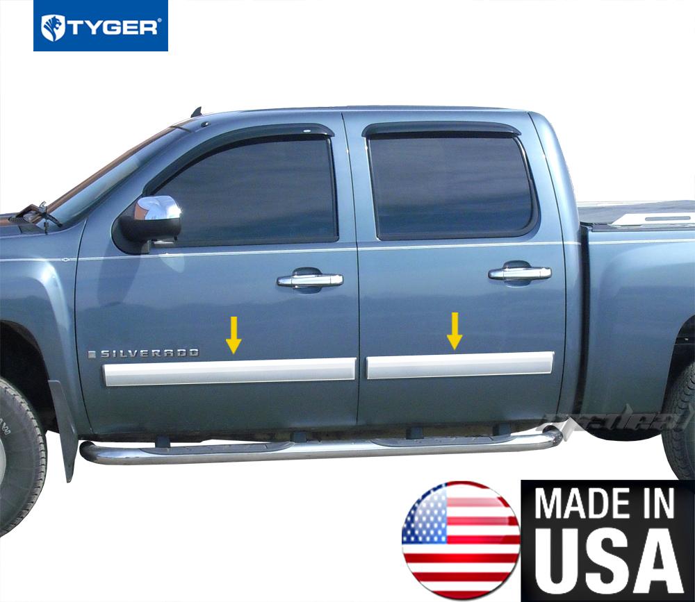 2016 Chevrolet Silverado 1500 Crew Cab Head Gasket: TYGER For 07-08 Chevy Silverado Crew Cab Body Side Molding