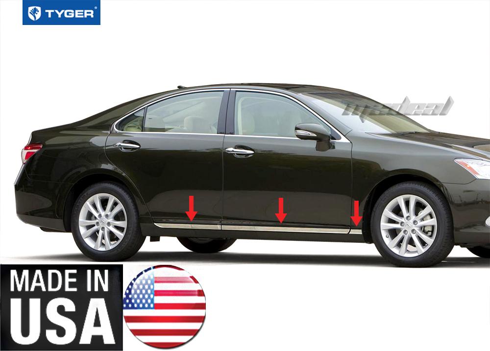 Window trim molding exterior - 2012 Lexus Es 350 Lower Door Accent Body Side Molding Trim 3 4 034 6pc