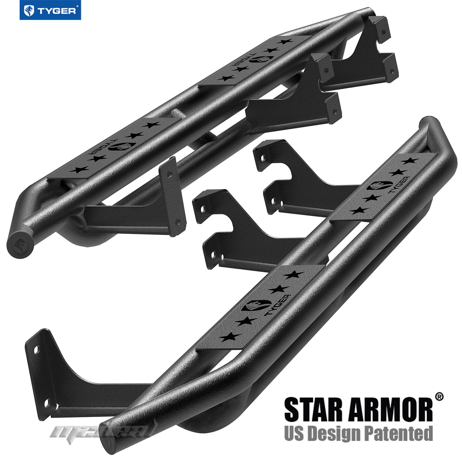 Aries Running Boards >> TYGER Star Armor For 2007-2014 Toyota FJ Cruiser Black Side Step Nerf Bars