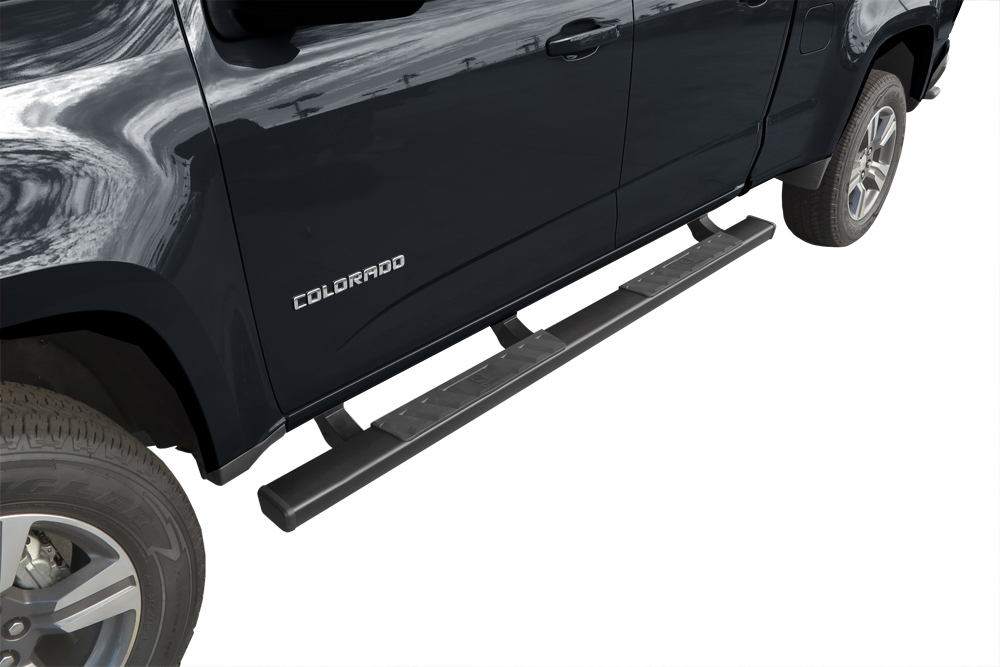 tyger riser for 15 17 chevy colorado canyon crew cab 4inch black step nerf bars ebay. Black Bedroom Furniture Sets. Home Design Ideas