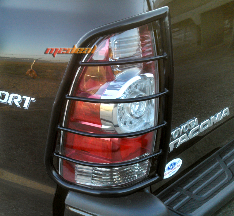 details about for 2005 2015 toyota tacoma 2pc black tail light guards. Black Bedroom Furniture Sets. Home Design Ideas