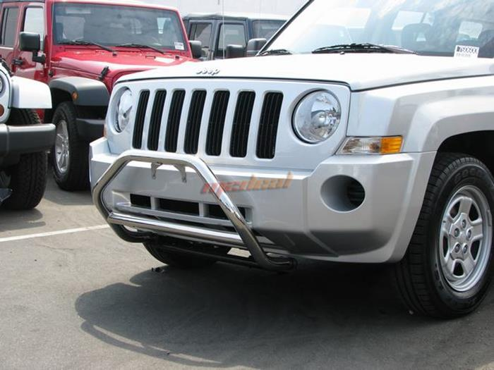 08 10 jeep patriot stainless sport nudge bumper bull guard light bar. Black Bedroom Furniture Sets. Home Design Ideas